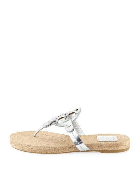 Miller Logo Espadrille Flat Thong Sandal
