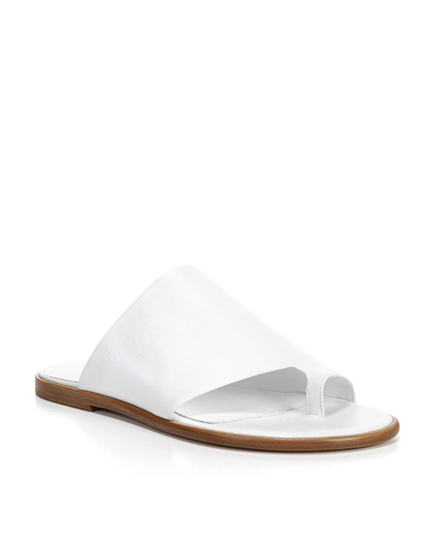 feaf246c5d23 Vince Edris Flat Leather Slide Sandal
