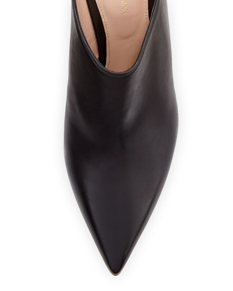 Mira Kitten-Heel Leather Mule