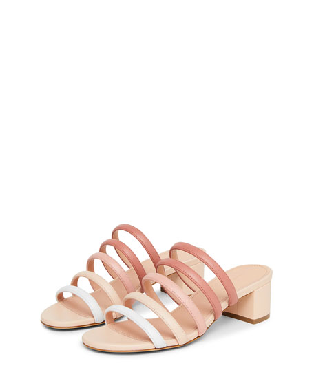 Ombre Strappy Slide Sandals