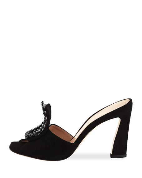 Radiance Embellished Luxe Suede Slide Sandal