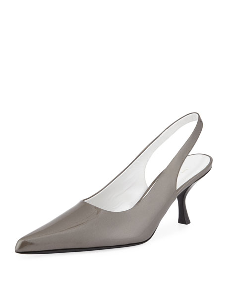 Womens Bourgeoise Leather Slingback Pumps The Row r3w5fUuP