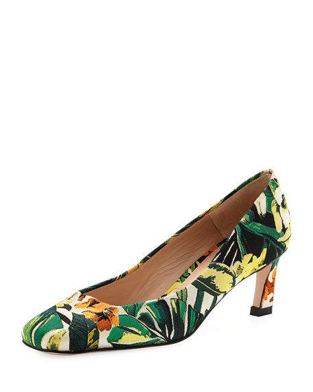 Chelsea New Look Botanic Jacquard Pumps