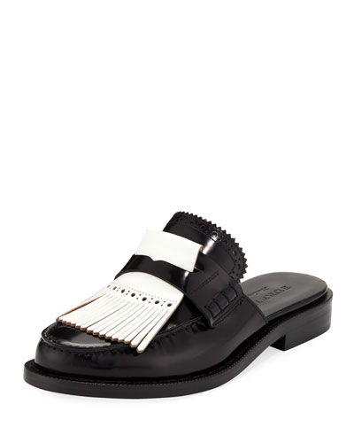 English Icons Fringe Loafer Mule