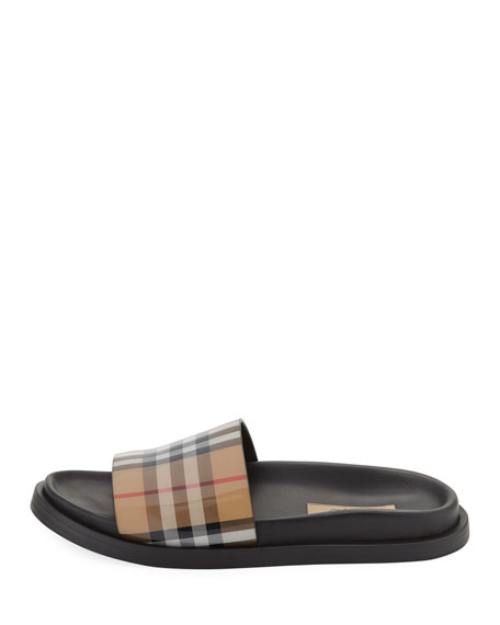 English Icons Vintage Check Slide Sandal