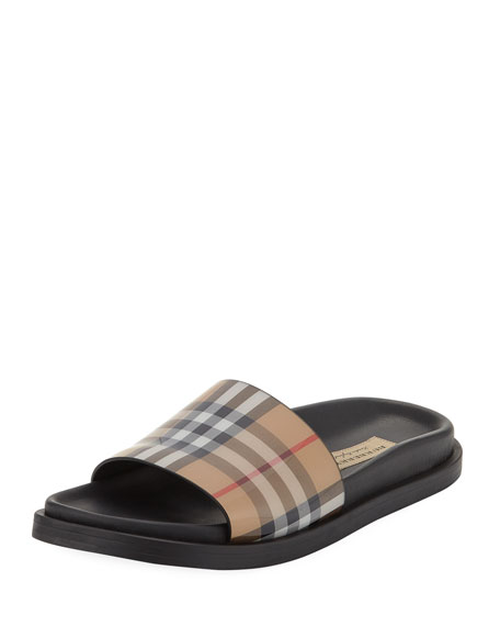 Burberry English Icons Vintage Check Slide Sandal