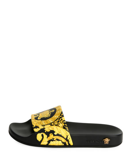 Flat Logo Terry Pool Slide Sandal