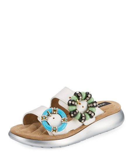 Marc Jacobs Sage Embellished Slide Sandal