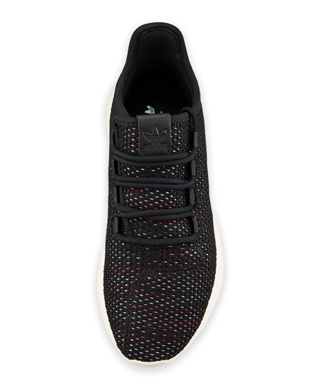 Tubular Shadow Knit Trainer Sneakers, Black