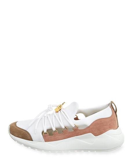 Run1 Cut Neoprene Lace-Up Sneaker