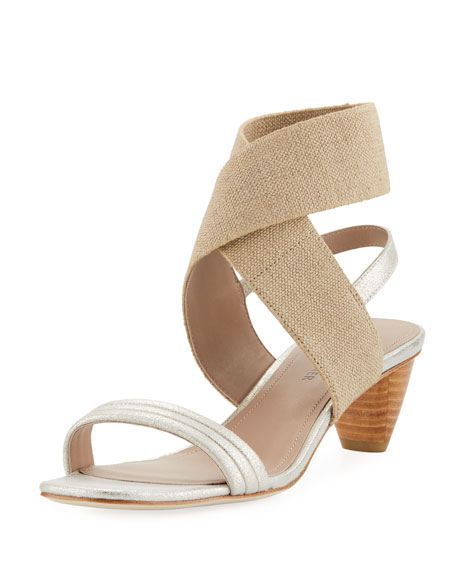 Donald J Pliner Hira Metallic Leather Low-Heel Sandal