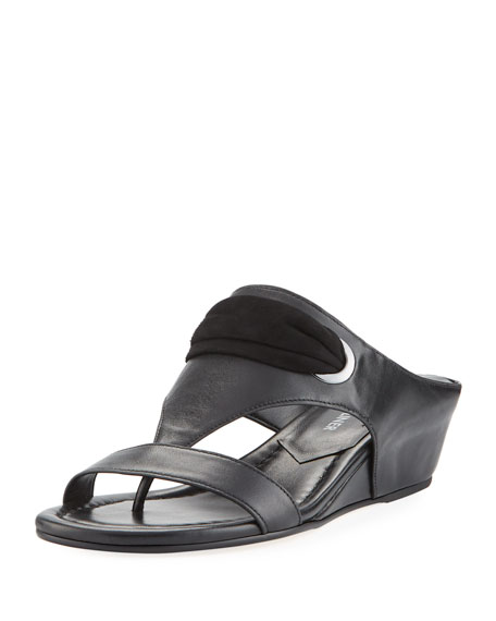 Donald J Pliner Metallic Slide Wedges outlet with credit card COVDxC