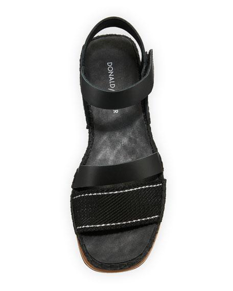 Anie Platform Mesh/Calf Wedge Sandal