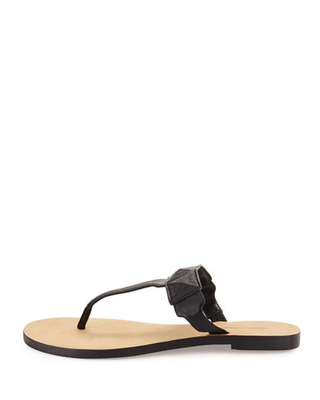 Eloise Studded Thong Sandals, Black