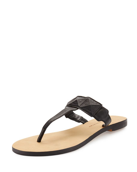 Eloise Studded Thong Sandal, Black