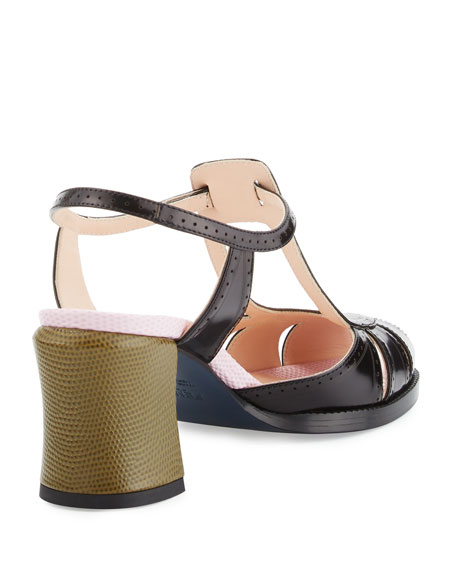 Chameleon Leather 70mm Sandal