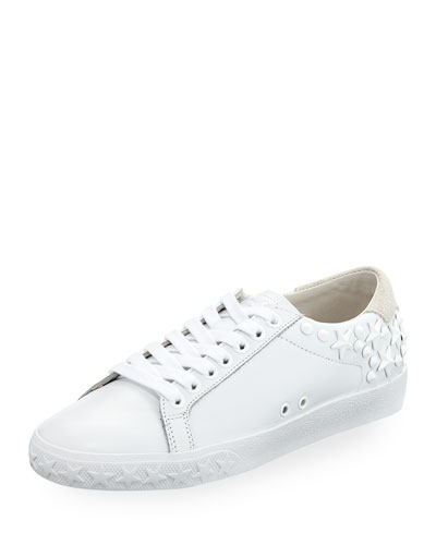 Dazed Calf Sneaker with Star Studs