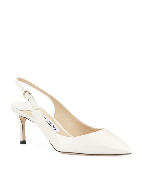 Jimmy choo 60MM ERIN PATENT LEATHER SLINGBACK PUMPS