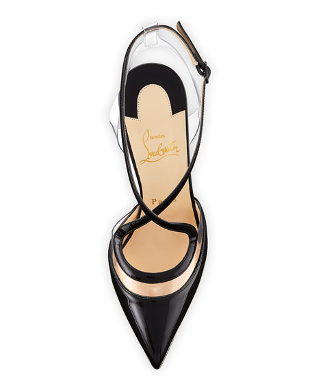 Cupidetta Leather And Pvc Red Sole Pump by Christian Louboutin