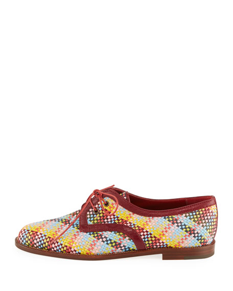 Majorella Multicolor Woven Leather Oxford