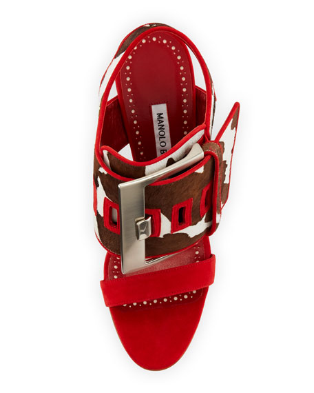 Marta Mucco Fur-Trim Sandal