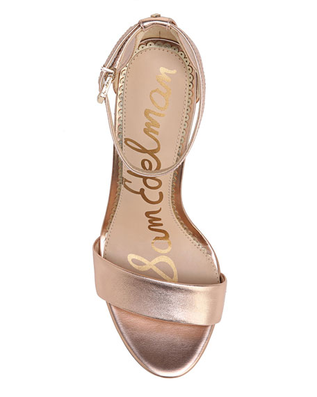 85313a3894e2a Image 4 of 4  Yaro Metallic Block-Heel Sandal