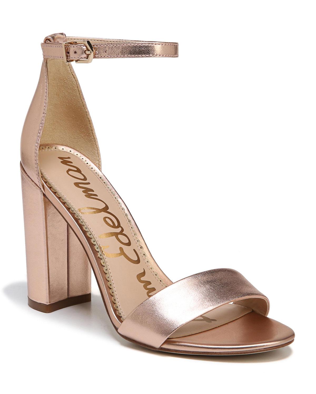 36ba0cfb898 Sam Edelman Yaro Metallic Block-Heel Sandal