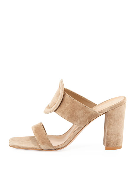 Ring-Detail Suede 85mm Slide Sandal