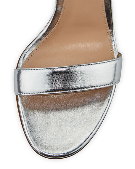 Portofino Metallic Napa Ankle-Strap 85mm Sandal