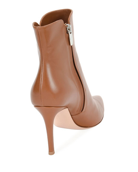 85mm Calf Leather Booties