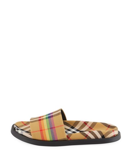 Ashmore Rainbow Check Slide Sandal