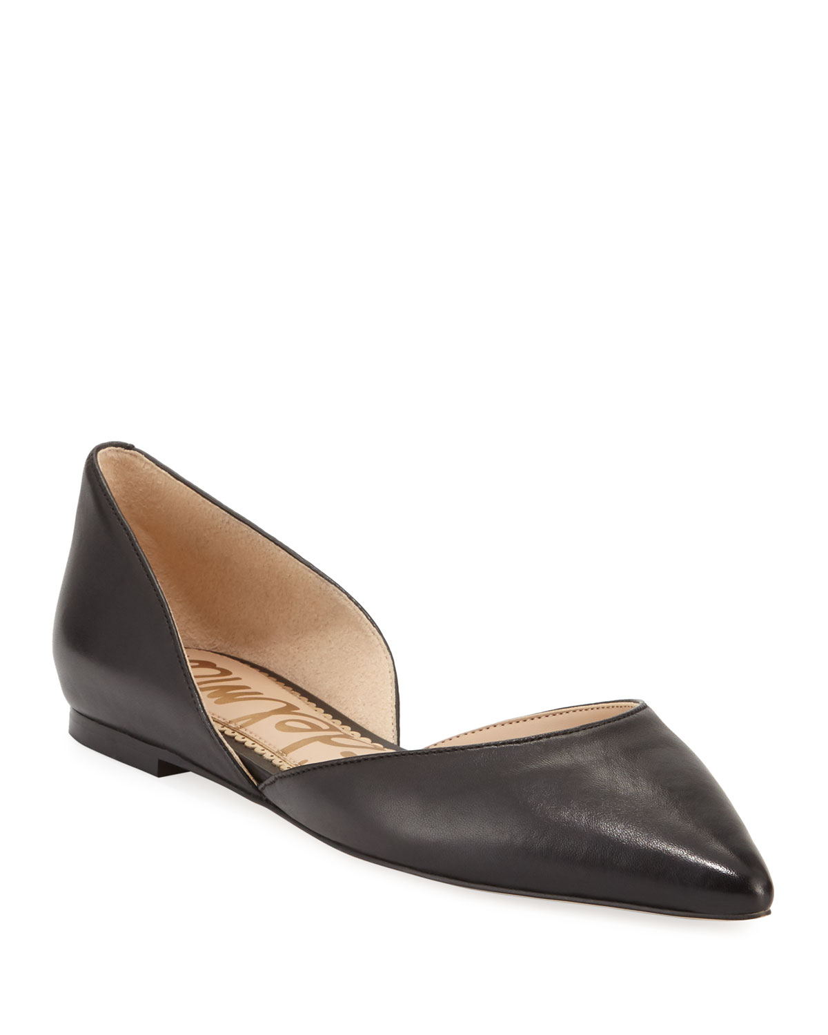 3fa2b7ab4ed8cd Sam Edelman Rodney Pointed-Toe Leather Flat
