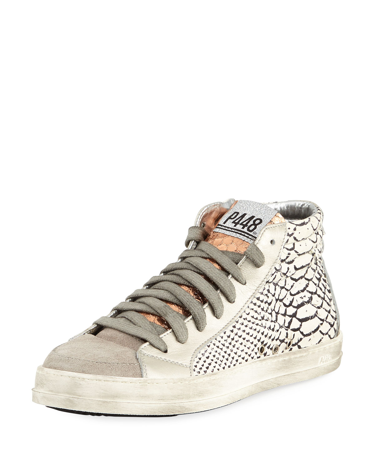 b6fe5d00452be0 P448 Skate Python-Embossed High-Top Sneakers