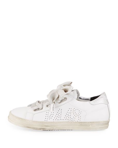 Ralph Leather Platform Low-Top Sneakers
