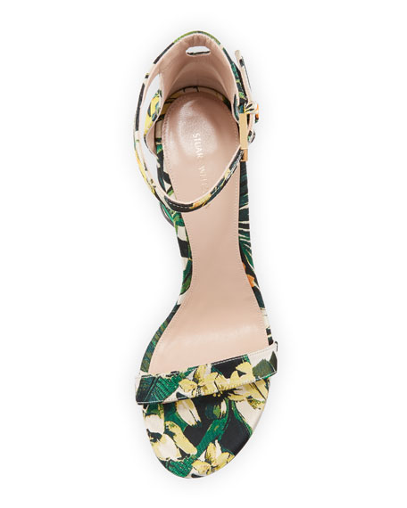 LessNudist 95mm Botanical Jacquard Naked Sandal
