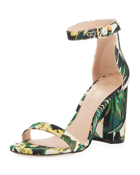 LessNudist 95mm Botanical Jacquard Naked Sandal