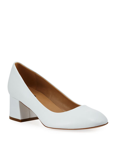 Sesto Meucci Myna Soft Napa Leather Block-Heel Pump
