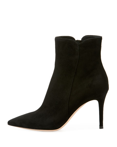 Suede 85mm Point-Toe Bootie