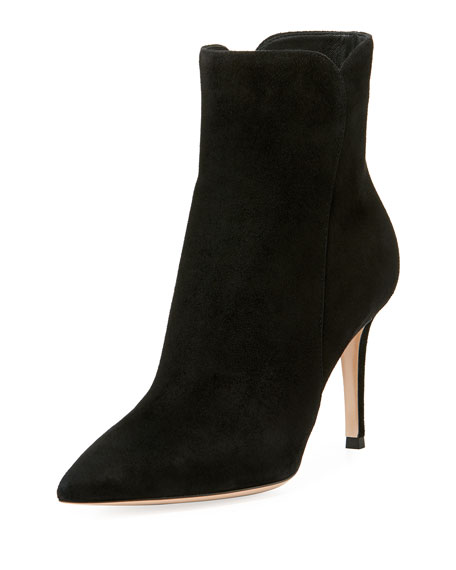 Gianvito Rossi Suede 85mm Point-Toe Bootie
