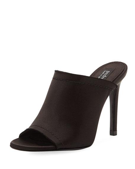 Rae Satin Glove Mule Sandal