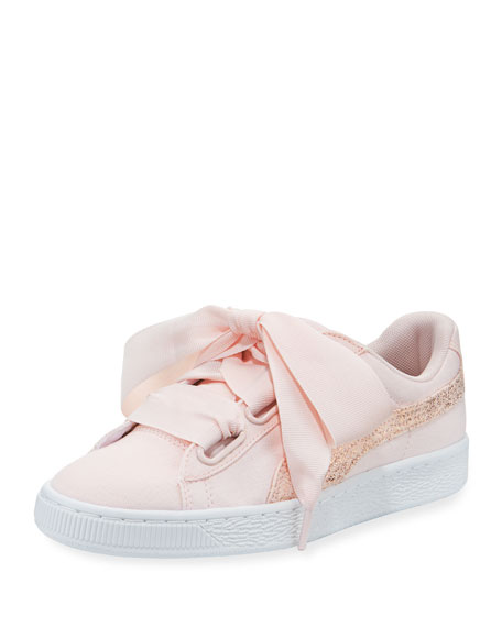 Puma Basket Heart Canvas Sneaker, Pearl White