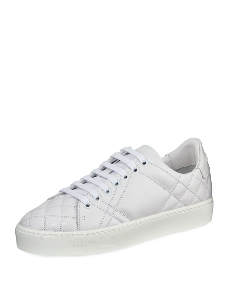 Burberry Questford Low-Top Quilted Leather Low-Top Sneaker