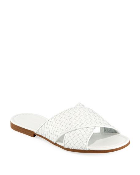 Sesto Meucci Nera Flat Woven Napa Leather Slide