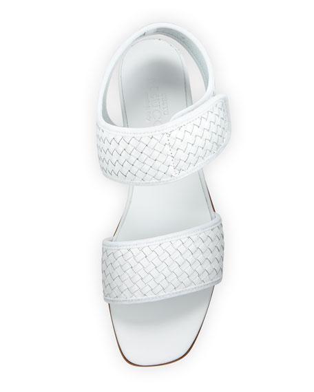Gryta Woven Calf Leather Flat Sandal