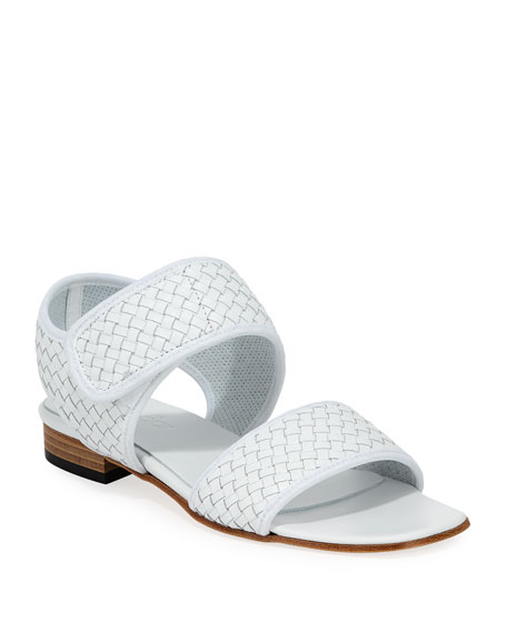 Gryta Woven Calf Leather Flat Sandal
