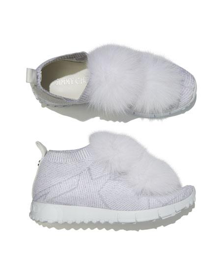 Norway Metallic Sneakers With Fur Trim