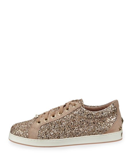 Cash Glitter Platform Low-Top Sneakers