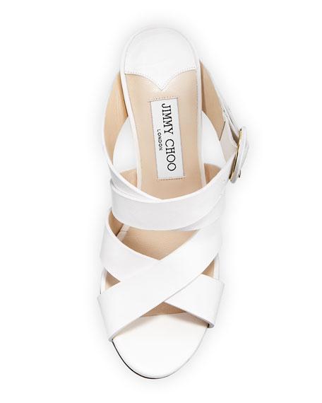 Delila Vachetta Leather Wedge Slide Sandal