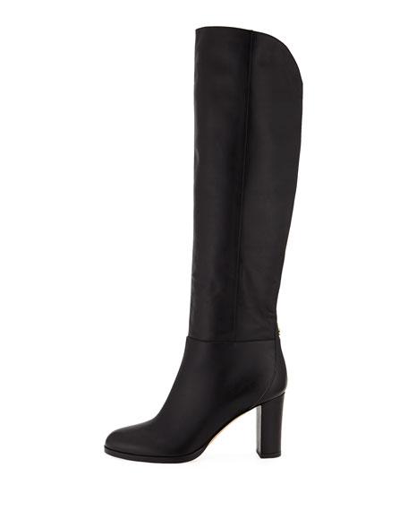 Madalie 80mm Leather Knee Boot