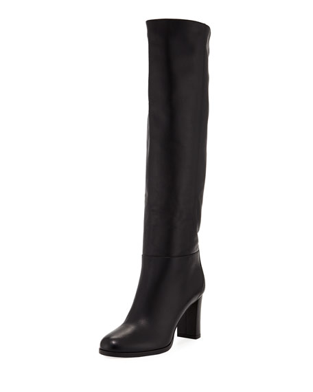 Jimmy Choo Madalie 80mm Leather Knee Boot